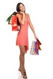 Winkelende vrouw Stock Fotografie