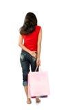 Winkelende vrouw Royalty-vrije Stock Afbeelding