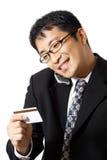 Winkelende zakenman Stock Afbeeldingen
