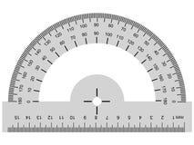 Winkelmesser, geometrisches Instrument Stockfoto