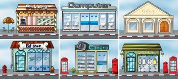 winkels stock illustratie