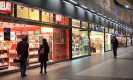 Winkels binnenstation Royalty-vrije Stock Afbeeldingen