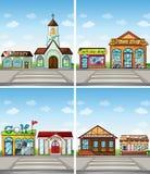 Winkels en plaatsen Stock Afbeeldingen