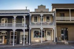 Winkels in het historische centrum van Sutter-Kreek stock fotografie