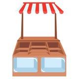 Winkelshowcases, opslagplanken of Stock Foto