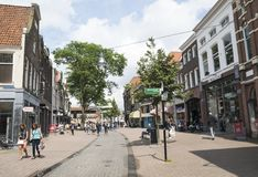 Shooping street in Zwolle the Netherlands. Winkelstraat Zwolle, the Netherlands, 12 July 2016 Stock Photo