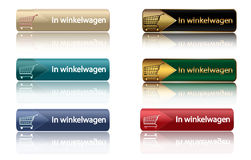 In winkelwagen - dutch shopping icons Royalty Free Stock Image