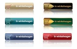 In winkelwagen - dutch shopping icons stock illustration