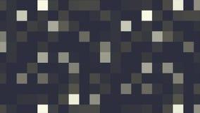 Winken Sie abstraktem Hintergrund die bunten blitzenden Pixel zu und schalten Sie Animationshintergrundglühen von Mosaikfliesen b stock abbildung