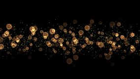 Winken Sie Grafik von Gold- Weihnachten-bokeh Lichtern - nahtlose Schleife zu stock footage