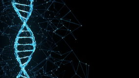Winken Sie Hintergrund Digital binäre Plexus DNA-Molekül Placeholder 4k Schleife zu lizenzfreie abbildung