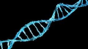 Winken Sie Hintergrund Digital binäre Schleife Plexus DNA-Molekül Alpha Mattes 4k zu stock video footage