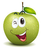 Winking apple smiley Royalty Free Stock Image