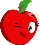 Winking apple Royalty Free Stock Images