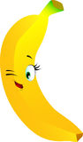 Winking banana Stock Photo