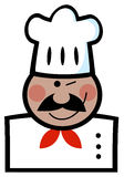 Winking black chef Royalty Free Stock Photos