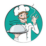 Winking chef Royalty Free Stock Images