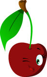 Winking cherry Royalty Free Stock Image