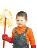 Winking cleaner Stock Photography
