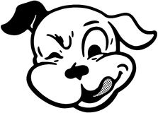 Winking Dog Stock Photography