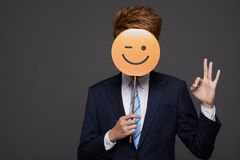 Winking face stock images