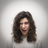 Winking girl portrait Stock Photography