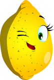 Winking lemon Stock Photography