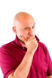 Winking man Stock Photo
