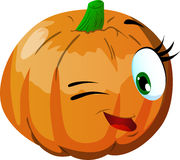 Winking pumpkin Royalty Free Stock Images