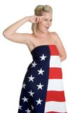 Winking Saluting Woman Royalty Free Stock Photography