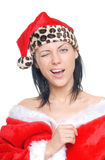 Winking Santa Stock Photography