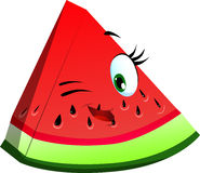 Winking slice of watermelon Royalty Free Stock Photos
