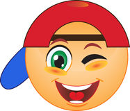 Winking smiley Stock Photography