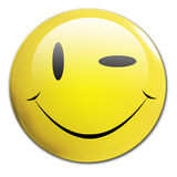 Winking smiley. A winking smiley on a white background Stock Photography