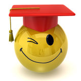 Winking smiley graduate Stock Photography