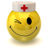 Winking smiley nurse Stock Photos