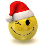 Winking smiley santa claus Royalty Free Stock Photography