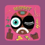 Respect royalty free illustration