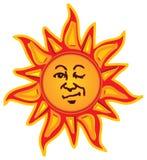 Winking Sun Royalty Free Stock Photos