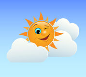 Winking sun Royalty Free Stock Photography