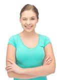 Winking teenage girl Stock Photos