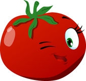 Winking tomato Stock Photos