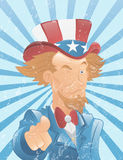 Winking Uncle Sam Vintage Art Royalty Free Stock Photos