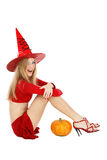Winking witch Stock Photo