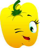 Winking yellow bell pepper Royalty Free Stock Photography