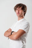 Winking young man Royalty Free Stock Photo