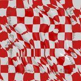 Winkled red and white cloth royalty free stock photos