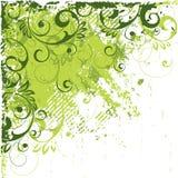 Winkliger grüner Auszug Stockfoto