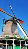 Winmills em Zaanse Schans, os Países Baixos Foto de Stock