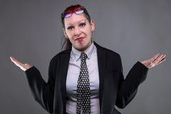 Winna biznesowa punkowa kobieta Zdjęcie Stock
